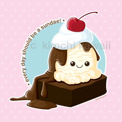 banner freeuse download Brownie drawing kawaii. Sundae by kimchikawaii on