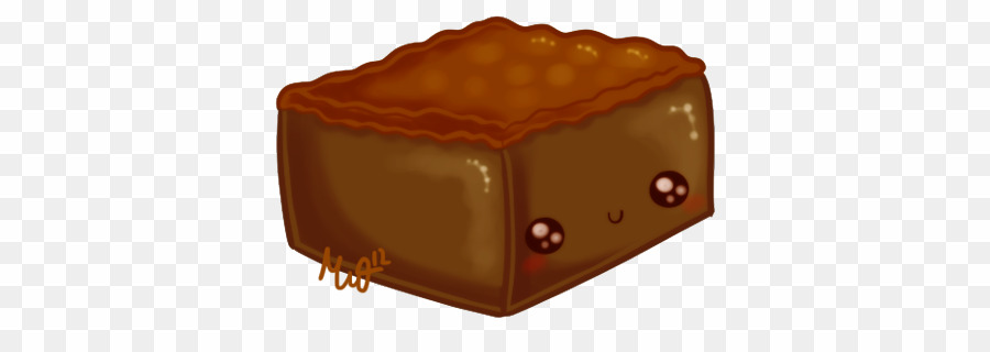 banner stock Png chocolate brownie fudge. Brownies clipart cute.