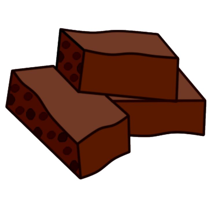 clipart freeuse library Brownies clipart cute. Brownie free download best.