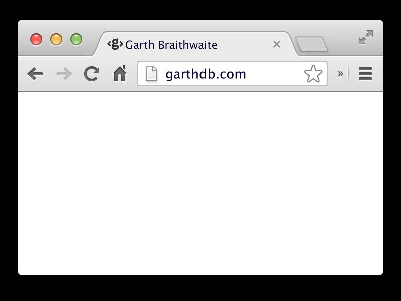 transparent stock Browser by garth braithwaite. Vector template.