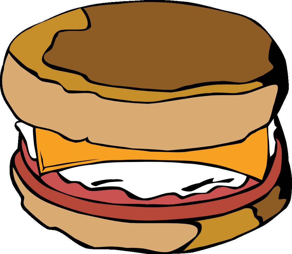 clip stock Brunch clipart cartoon.  a girl eating.