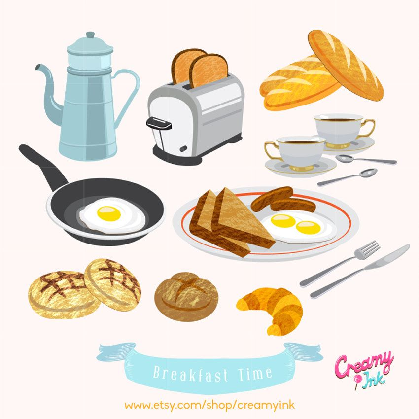 svg American breakfast food digital. Brunch clipart meal time