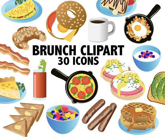 graphic black and white Brunch clipart saturday. Breakfast icons printable eggs