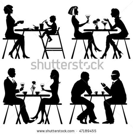 graphic royalty free Transparent . Brunch clipart silhouette