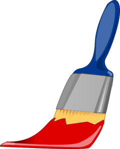 graphic library download Brush clipart. Paint blue and red