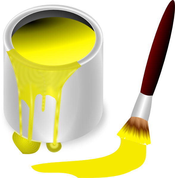 vector download yellow paint