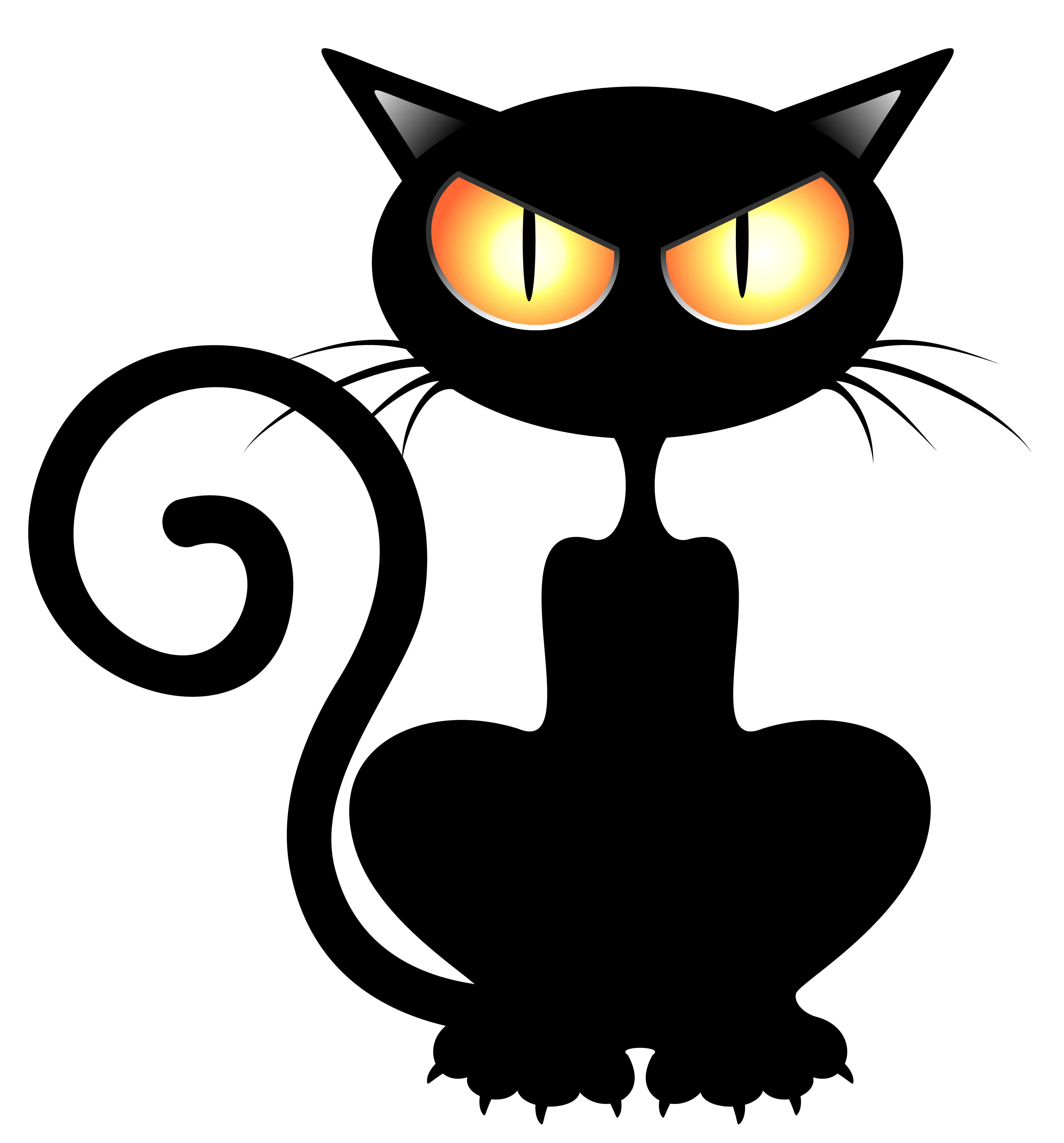 picture freeuse download Vector color cat. Black png clipart picture