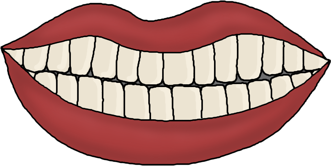 clip art royalty free stock Brush clipart mouth. With teeth template christmas