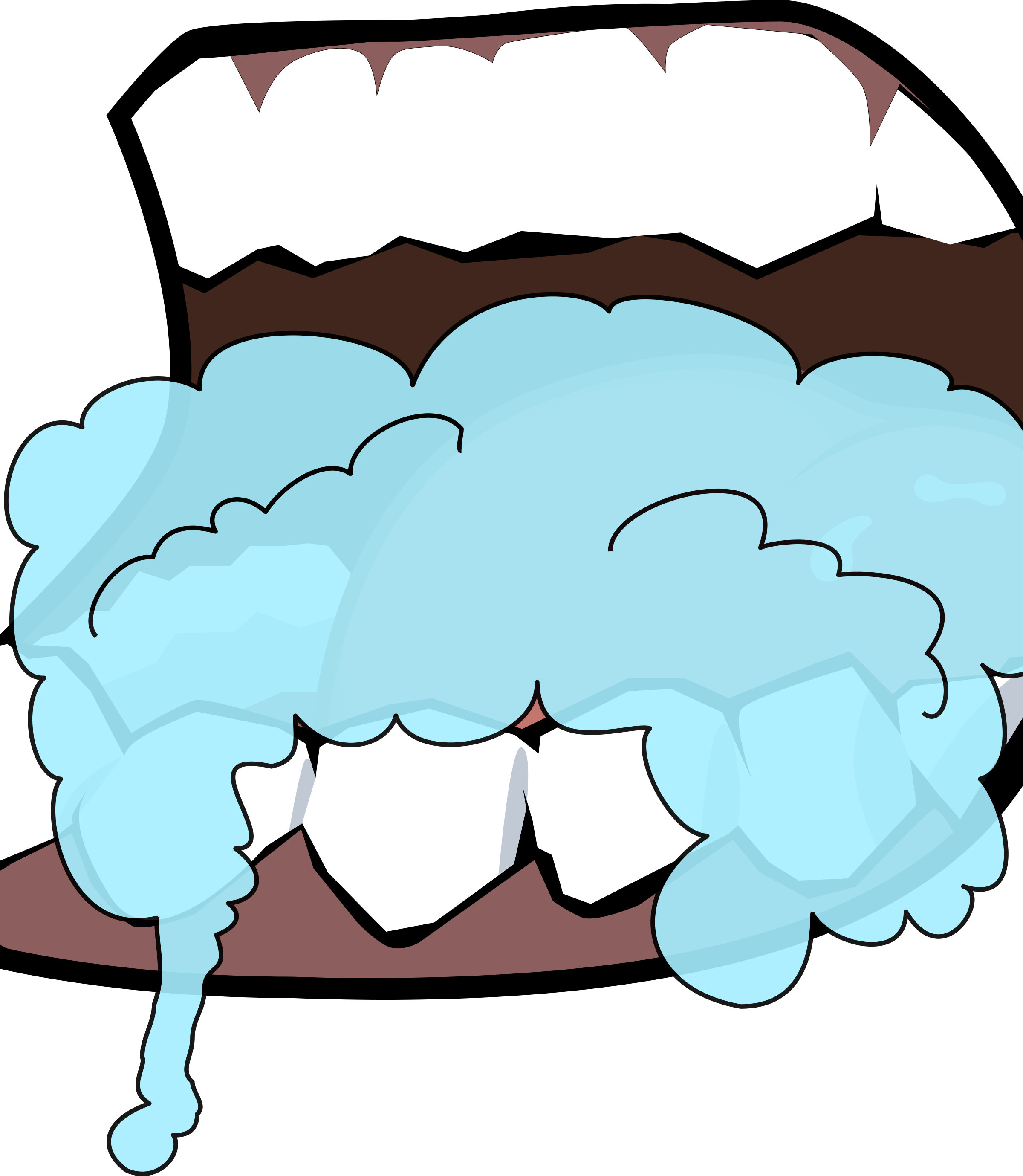picture royalty free download Foaming big image png. Brush clipart mouth