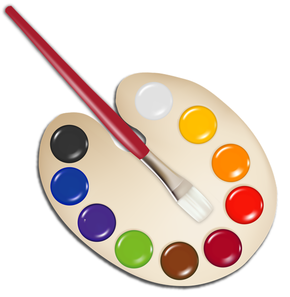 image free Palette with paint png. Brush clipart pan