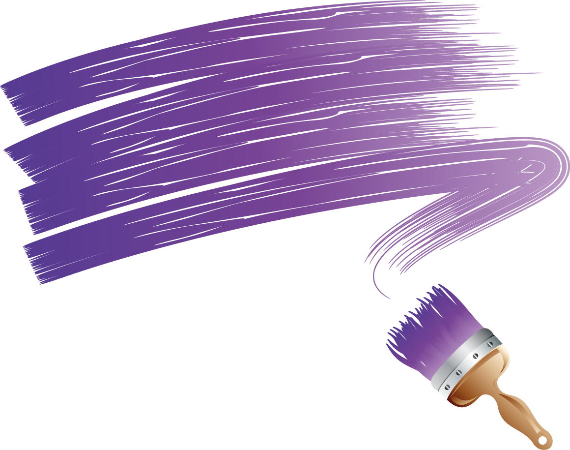 graphic free library Brush clipart purple. Paintbrush painting clip art