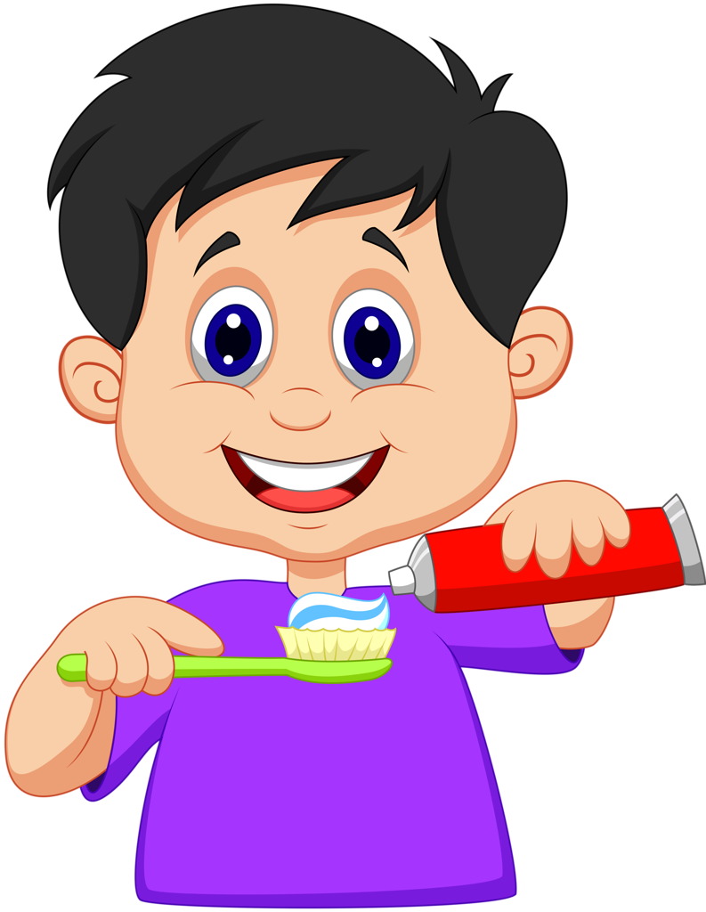 image royalty free stock Kids brushing teeth clipart.  png etsy shopping