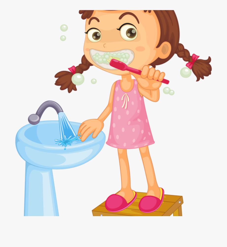 picture freeuse stock Kids brushing teeth clipart. Clip art brush what