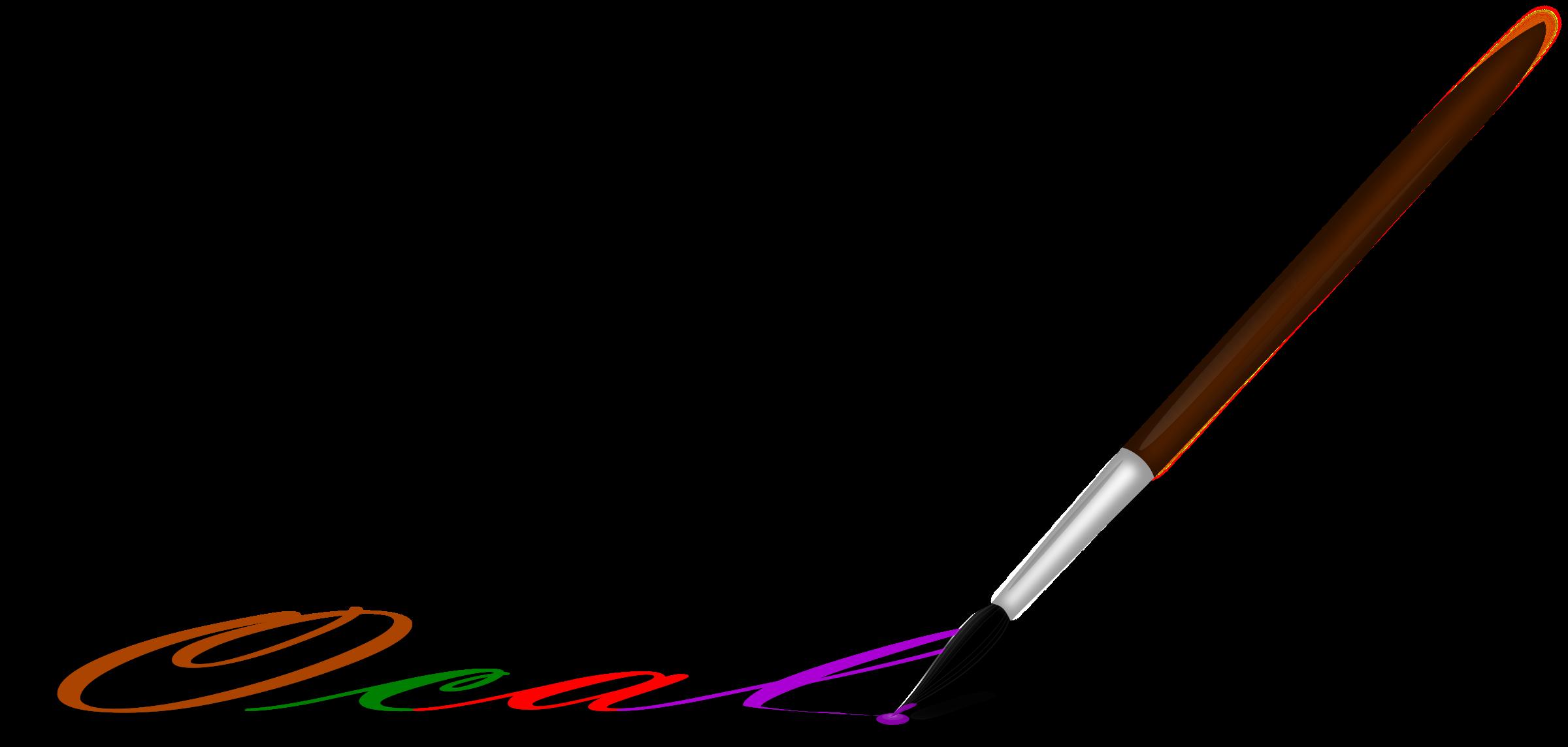 image transparent download Brushing clipart artistic. Painting brush big image.