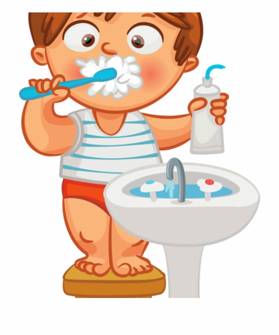 banner library stock Child teeth animation png. Brushing clipart brushteeth.