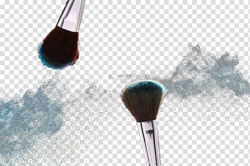 clip royalty free library Brushing clipart dust brush. Two silver makeup brushes.