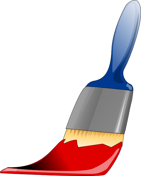 graphic black and white library Paint clip art at. Brushing clipart shoe brush