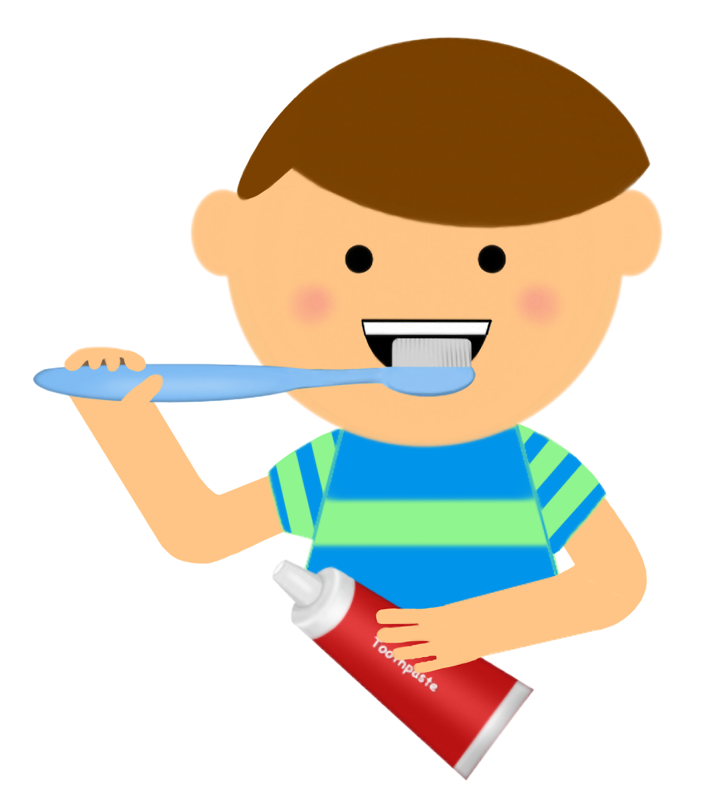 graphic stock Brushing teeth pictures cliparts. Thumbs clipart swollen