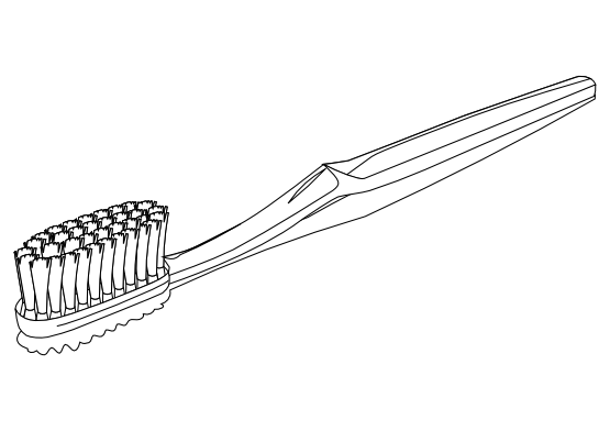 image black and white download Clipartist net clip art. Toothpaste clipart black and white