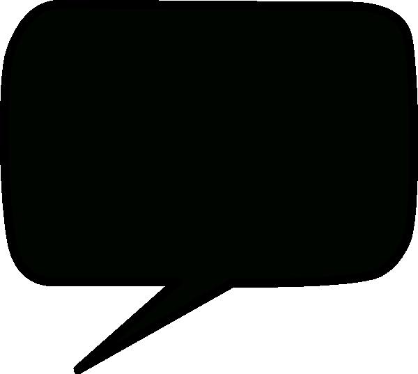 clip freeuse Vector bubble dialogue. Black speech clip art