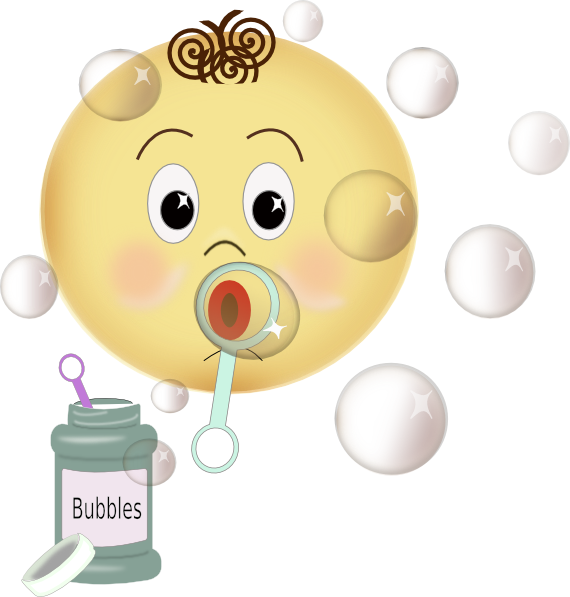 png black and white Blowing Bubbles Clip Art at Clker