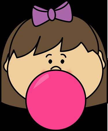png royalty free download Bubblegum girl monica s. Bubble clipart child.