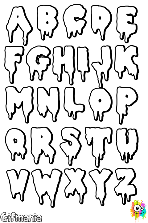 clipart black and white stock Drawing random graffito. Drama letters abc handlettering