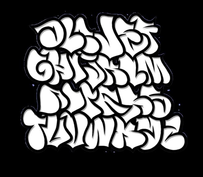 clipart black and white stock Piranha drawing graffiti. Bubble letter fonts design.