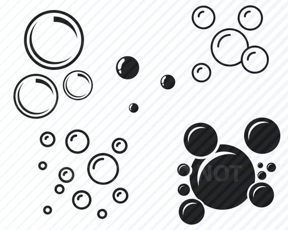 clip black and white library Vector bubble clip art. Bubbles svg bundle images