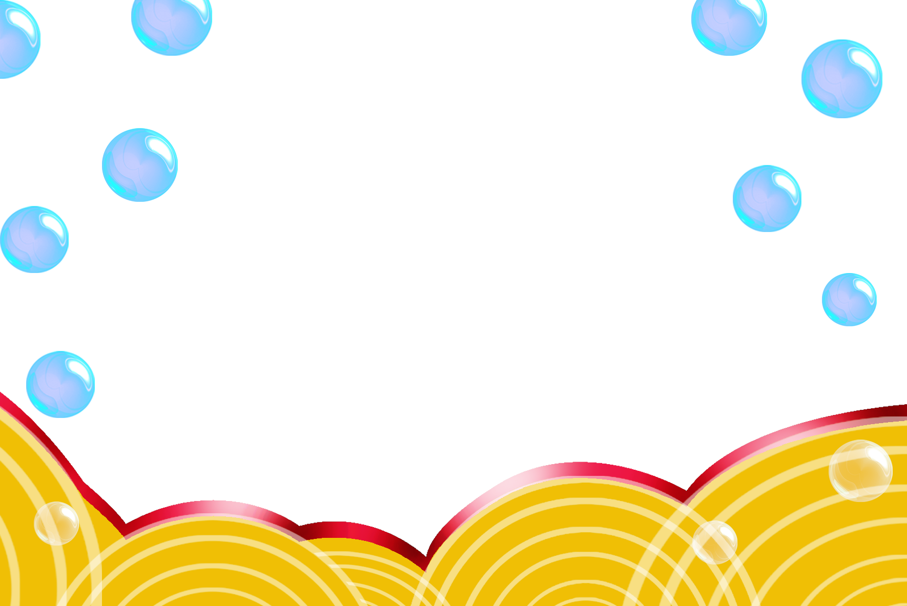 banner freeuse download Yellow graphic design border. Vector bubble wave