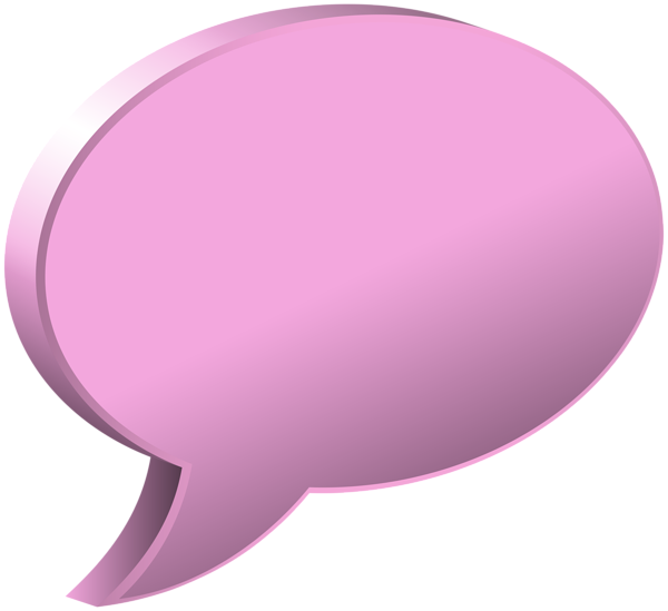 jpg transparent Speech bubble transparent png. Bubbles clipart pink.