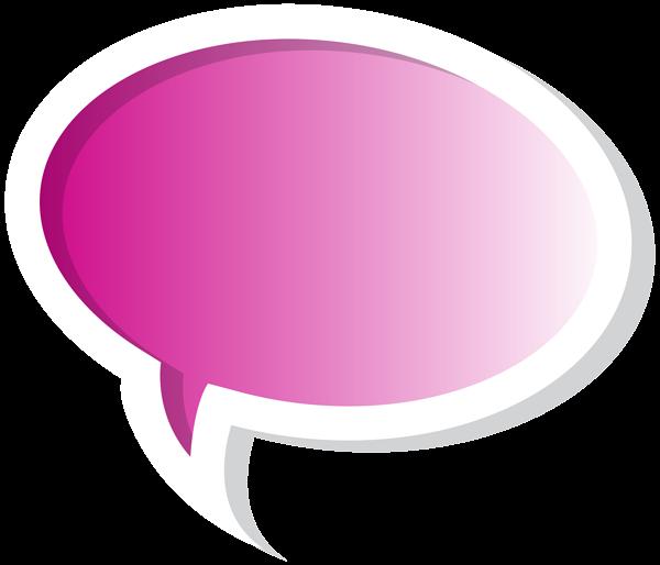 black and white Bubbles clipart pink. Speech bubble png clip.