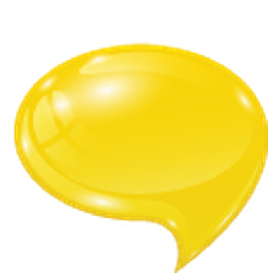picture transparent stock Bubbles clipart yellow. Set of speech the