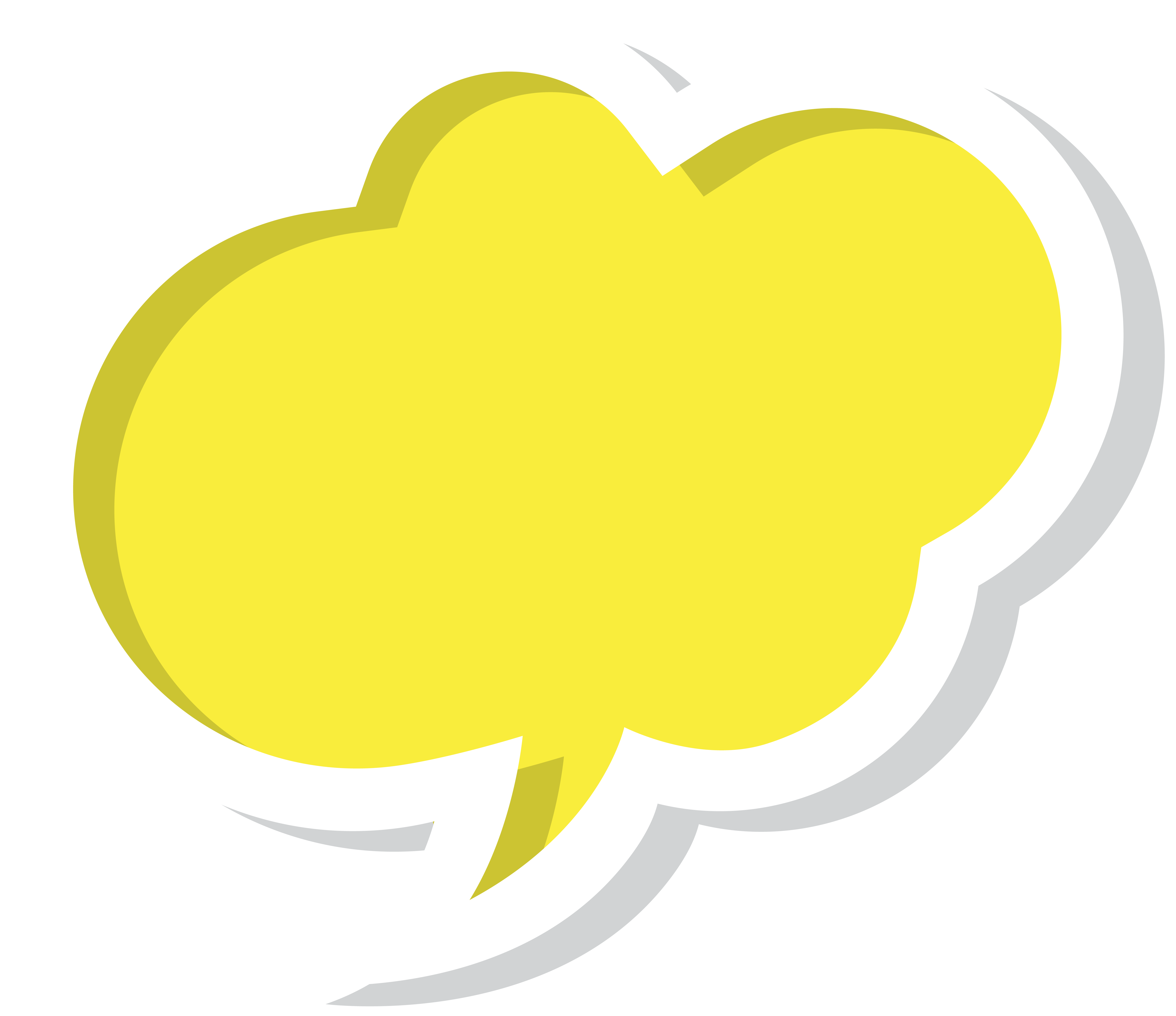 banner free library Cloud clipart speech bubble. Yellow png clip art.