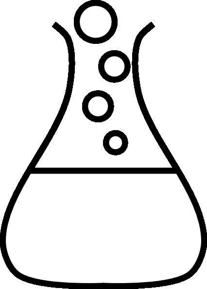clip library Bubble flask clip art. Beaker transparent black and white