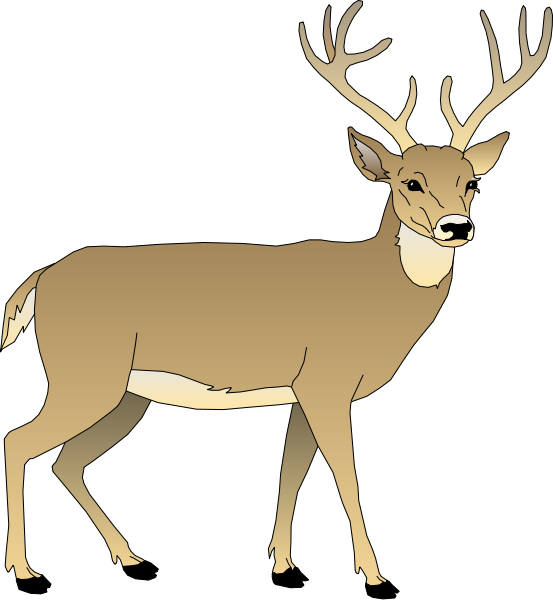 jpg black and white download Free whitetail deer cliparts. Buck clipart
