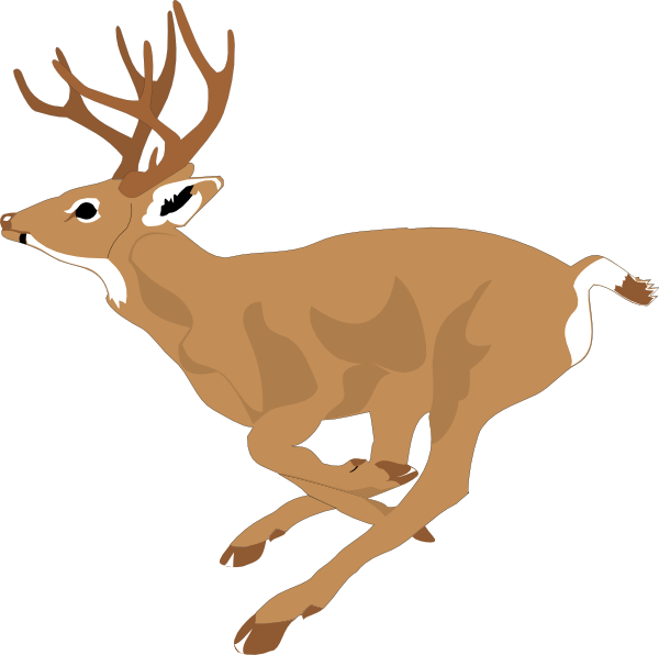 clip freeuse stock Running Deer Clip Art