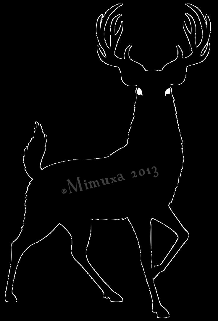 graphic free download Silhouette of at getdrawings. Buck clipart deer rack