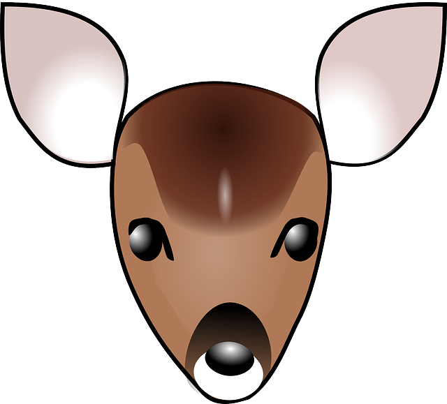 clip black and white stock Buck clipart face. Free on dumielauxepices net