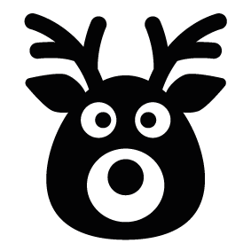 vector freeuse Deer silhouette at getdrawings. Buck clipart face.