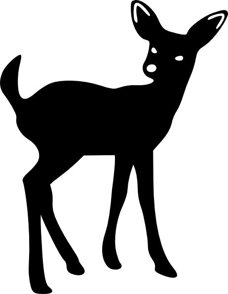 clip art Buck clipart stencil. Potential for my homemade