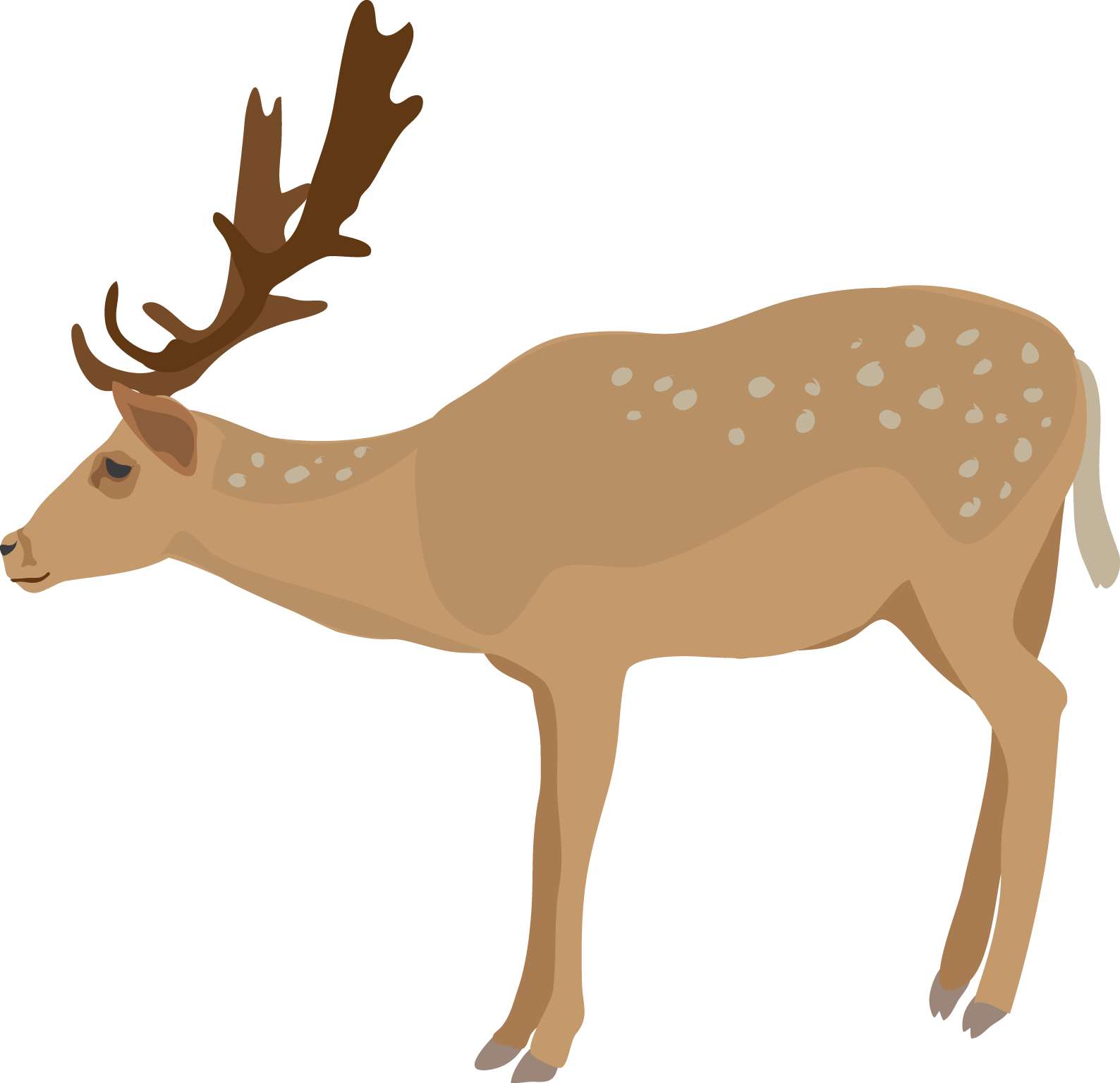royalty free stock Drinking png collection of. Vector polygon deer