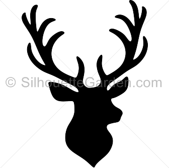 royalty free library Stag head silhouette clip art