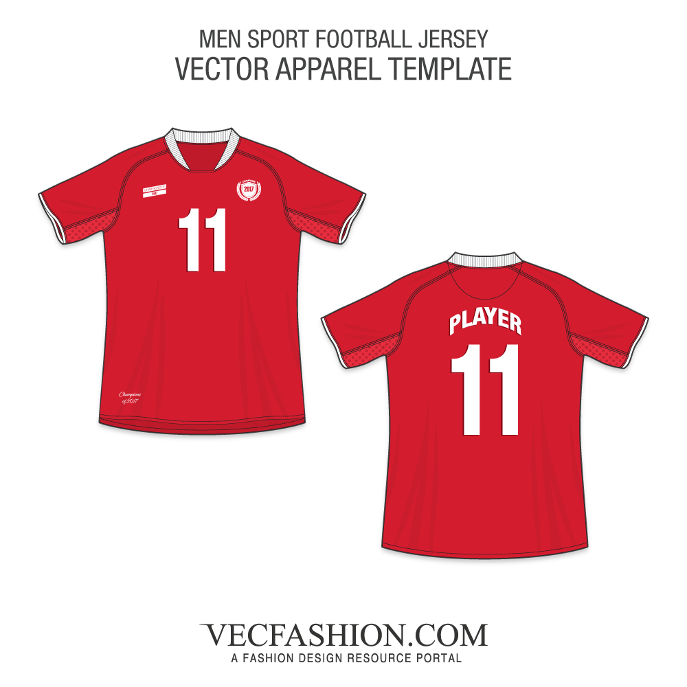 vector royalty free download Men Sport Football Jersey