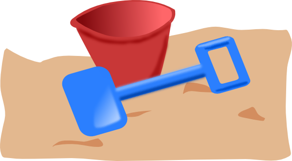 banner freeuse library Bucket And Spade Clip Art at Clker
