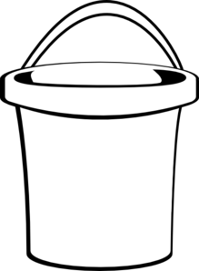 clipart black and white Free Bucket Clipart