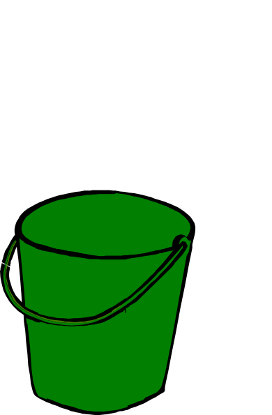 clip freeuse Green clip art at. Bucket clipart.