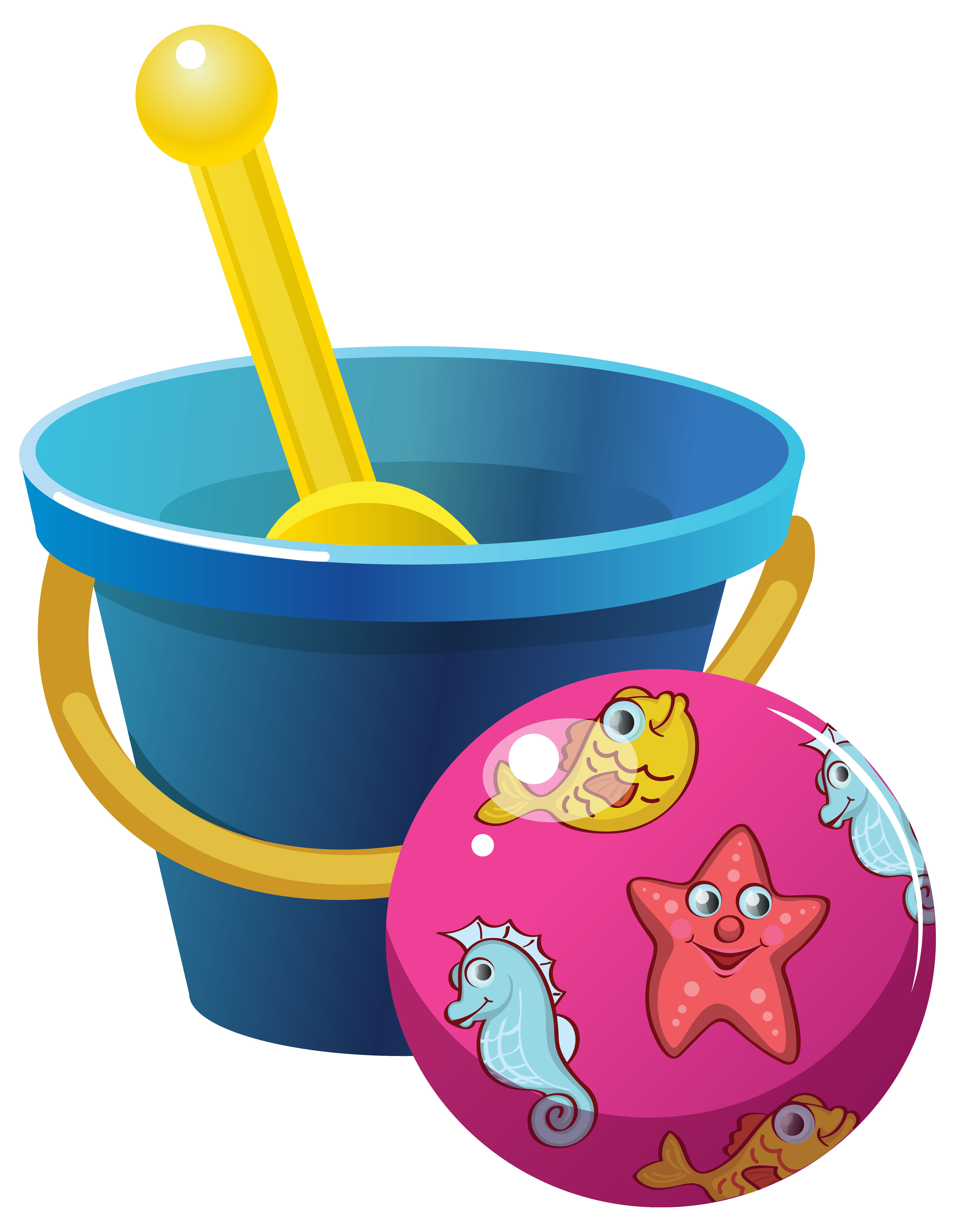 clipart royalty free download Beach and ball png. Bucket clipart cartoon