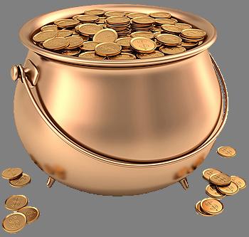 clipart stock Bucket clipart coin. A s il el