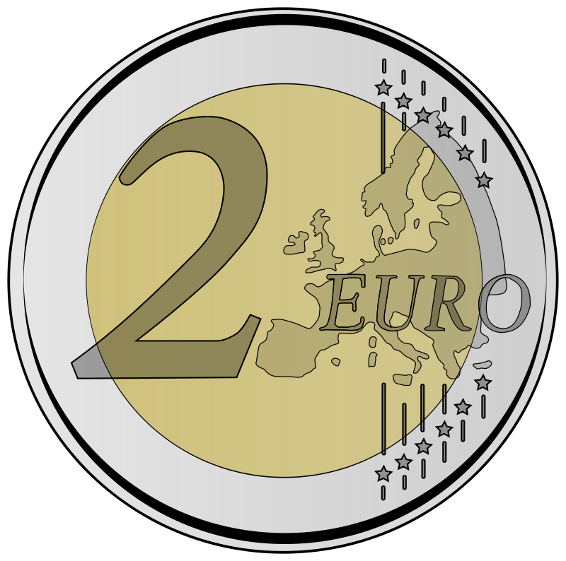 clip royalty free Bucket clipart coin.  euro by frankes
